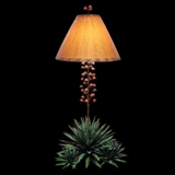 4 Texas Yucca Lamp - patina finish