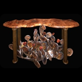 7 Prickly Pear Cactus End Table - Glass Top